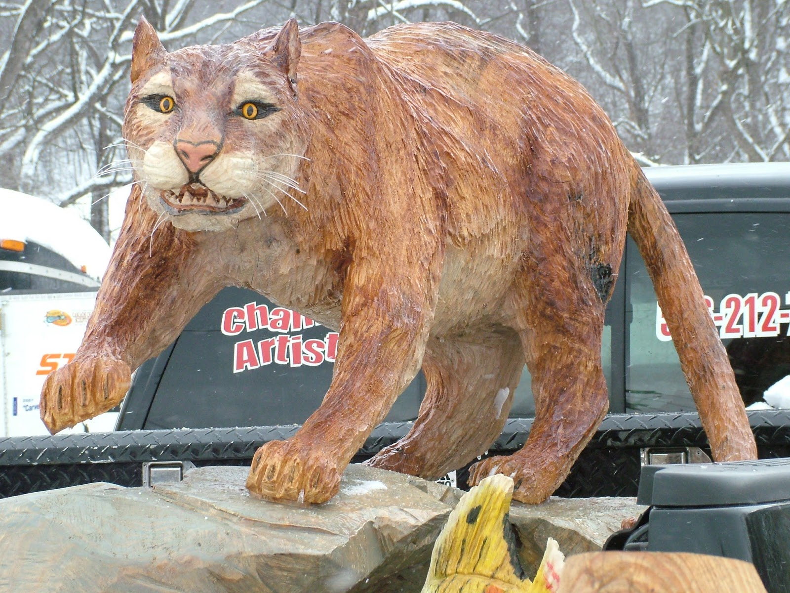 Cameron county pa news ridgway chainsaw carvers rendezvous