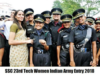 SSC 23rd Tech Women Indian Army Entry 2018