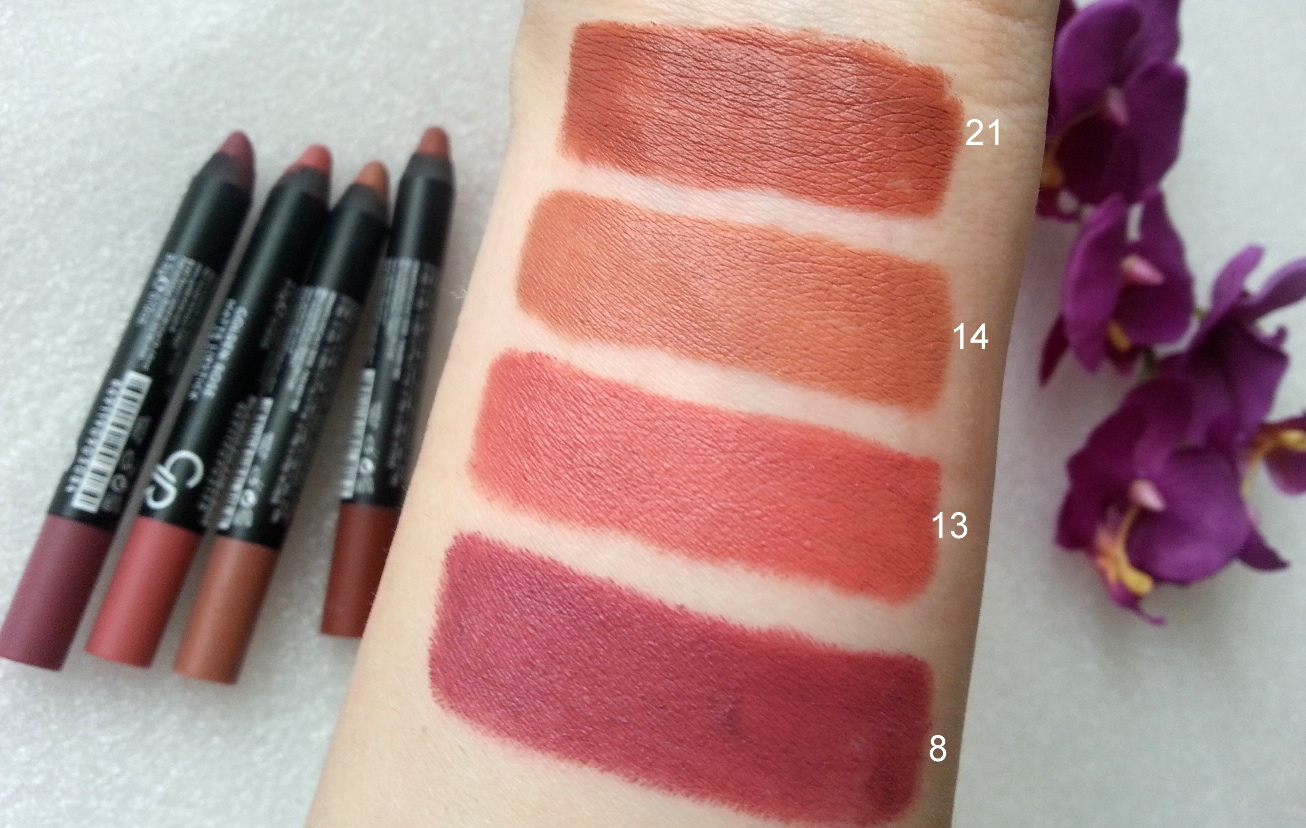Golden Rose Matte Lipstick Crayon Kalem Rujlar 8 13 14 21