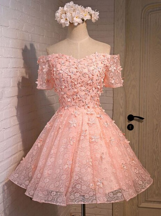https://www.dresstells.com/a-line-off-the-shoulder-short-mini-coral-lace-homecoming-dress-with-appliques-crystal.html