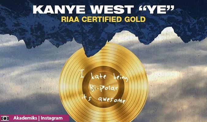 ألبوم كانييه ويست YE يحصل على الشهادة الذهبية