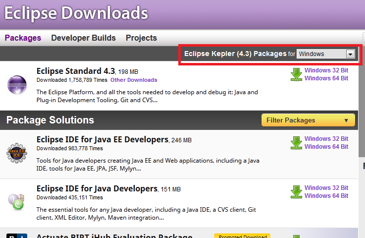 Download and Setup Eclipse Integrated Development