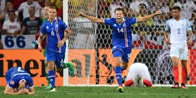 Hasil Pertandingan Inggris vs Islandia: Skor 1-2