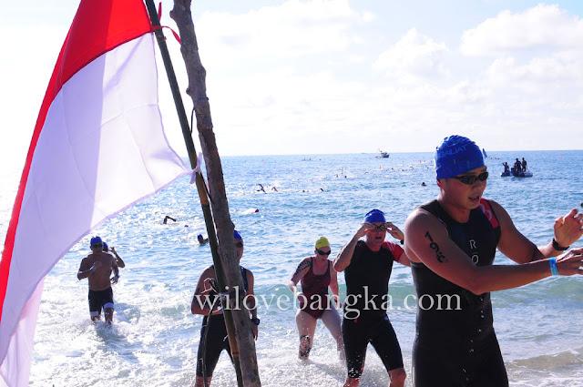 Sungailiat Triathlon Tahun 2016 promosi wisata bangka belitung