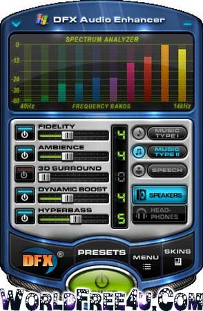 Cover OF DFX Audio Enhancer 11.017 Full Latest Version Free Download At worldfree4u.com