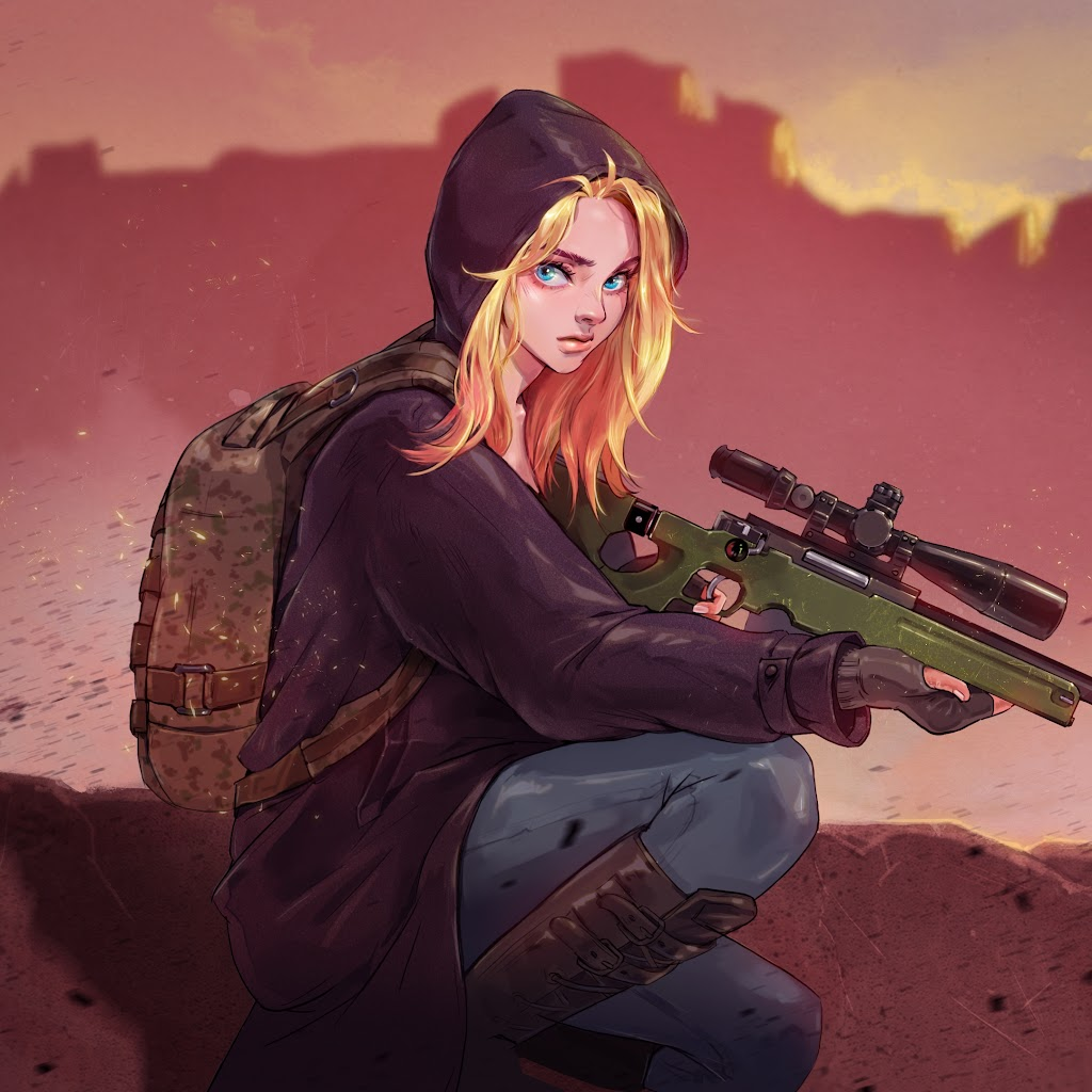 PUBG, Sniper, Girl, Sniper Rifle, PlayerUnknown's
