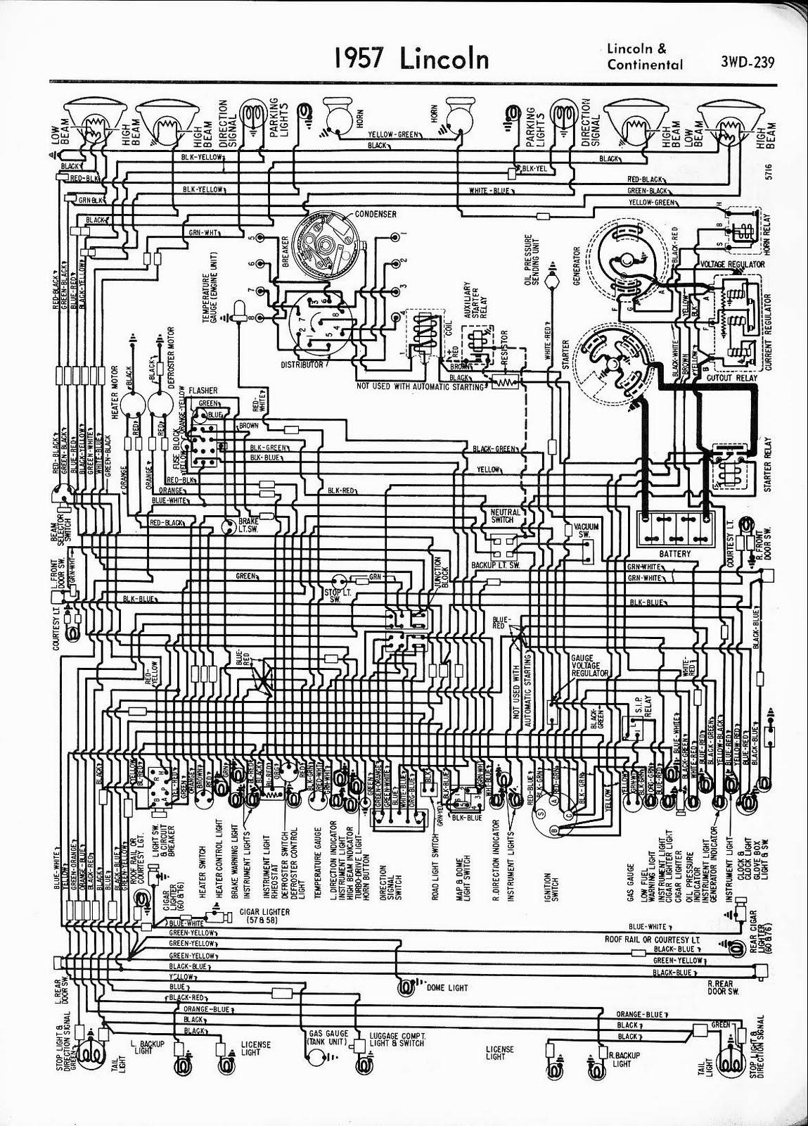 Free Auto Wiring Diagram: 1957 Lincoln Continental Diagram