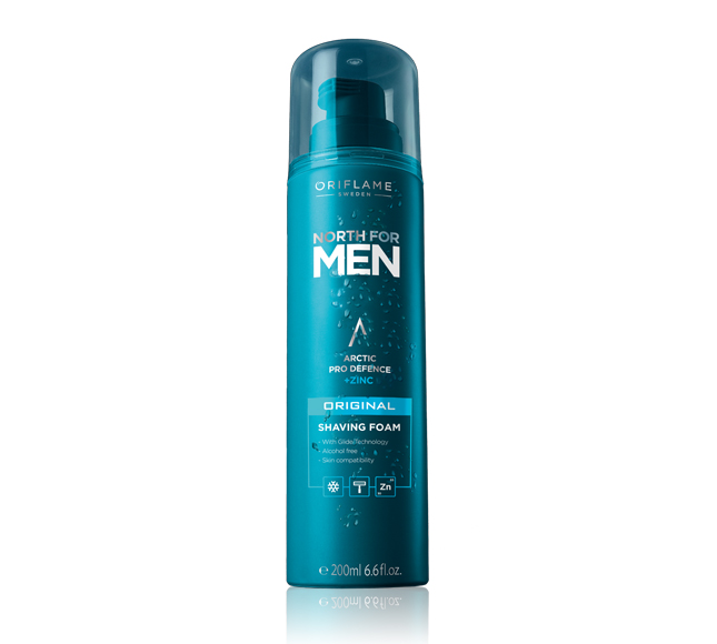 Espuma de Barbear North for Men Original da Oriflame