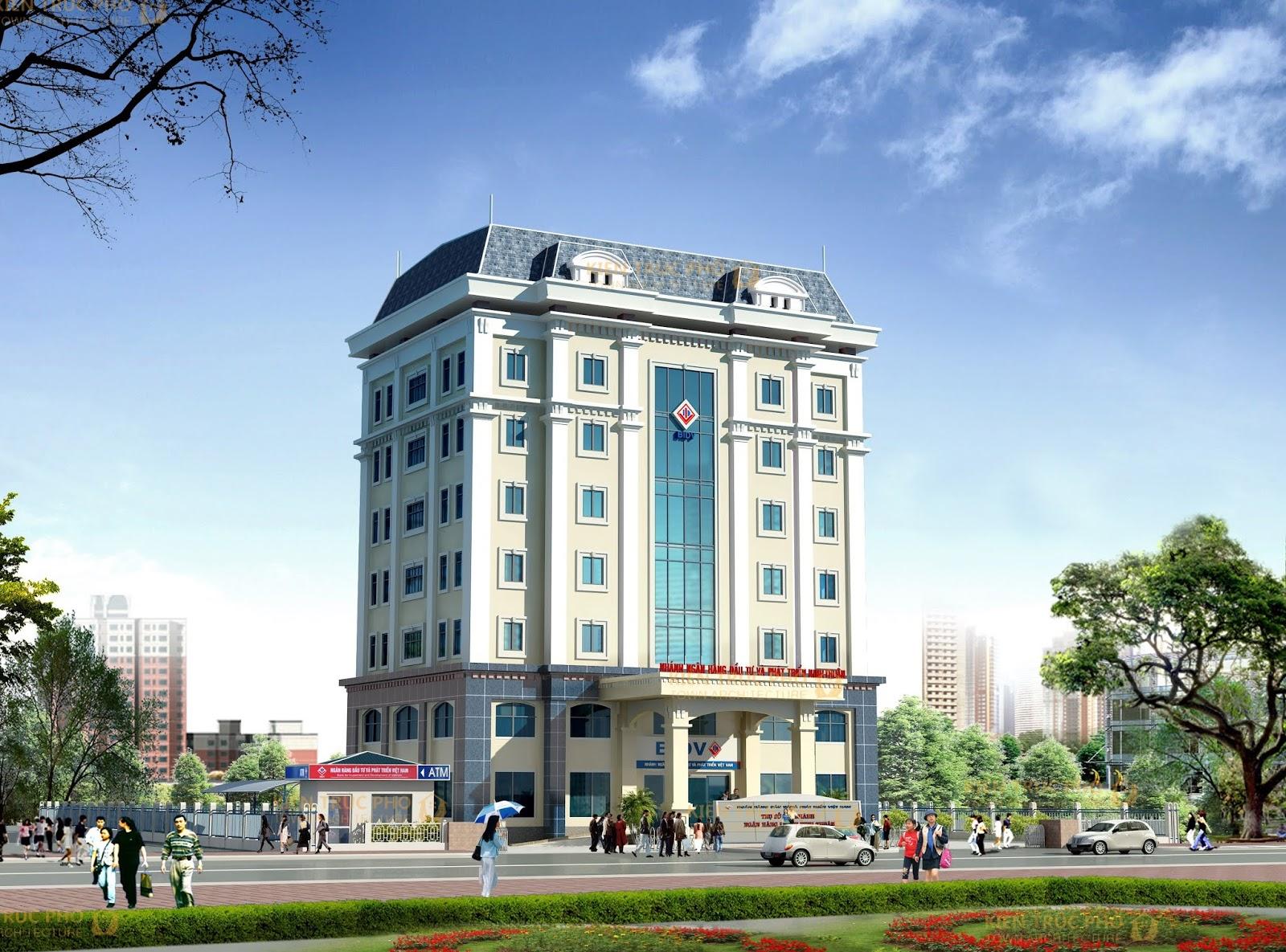 phối cảnh thiết kế ngân hàng bidv
