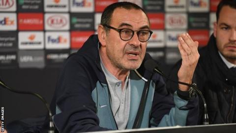 Chelsea FC Manager Maurizio Sarri