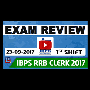 Exam Review With Cut Off | IBPS RRB CLERK 2017 | 23 September-Ist Shift