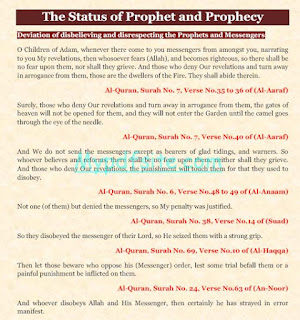 The Status of Prophet and Prophecy