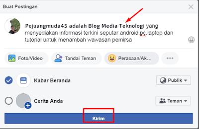 Cara Membuat Tulisan Hitam Tebal Di Status Facebook (FB) Tanpa Aplikasi