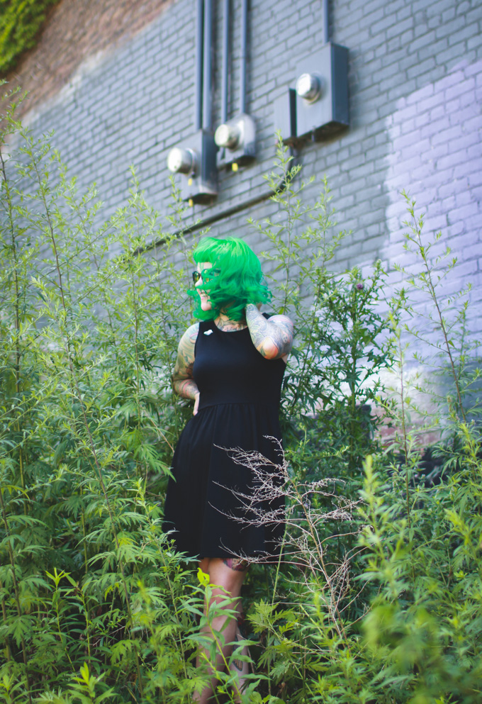 green hair, kaylah doolan, the dainty squid, cleveland fashion blog