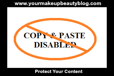 Copy and Paste Disable For Blogger