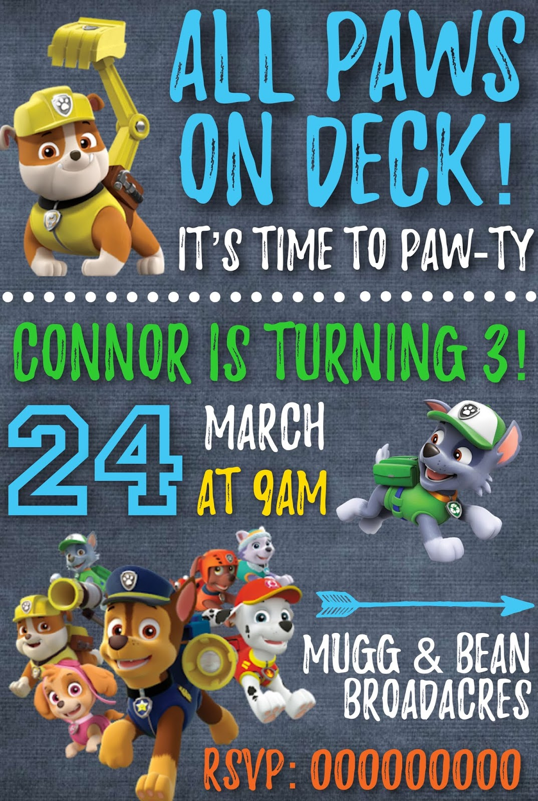 photo about Free Printable Paw Patrol Invitations referred to as Paw Patrol Invite Free of charge Printable