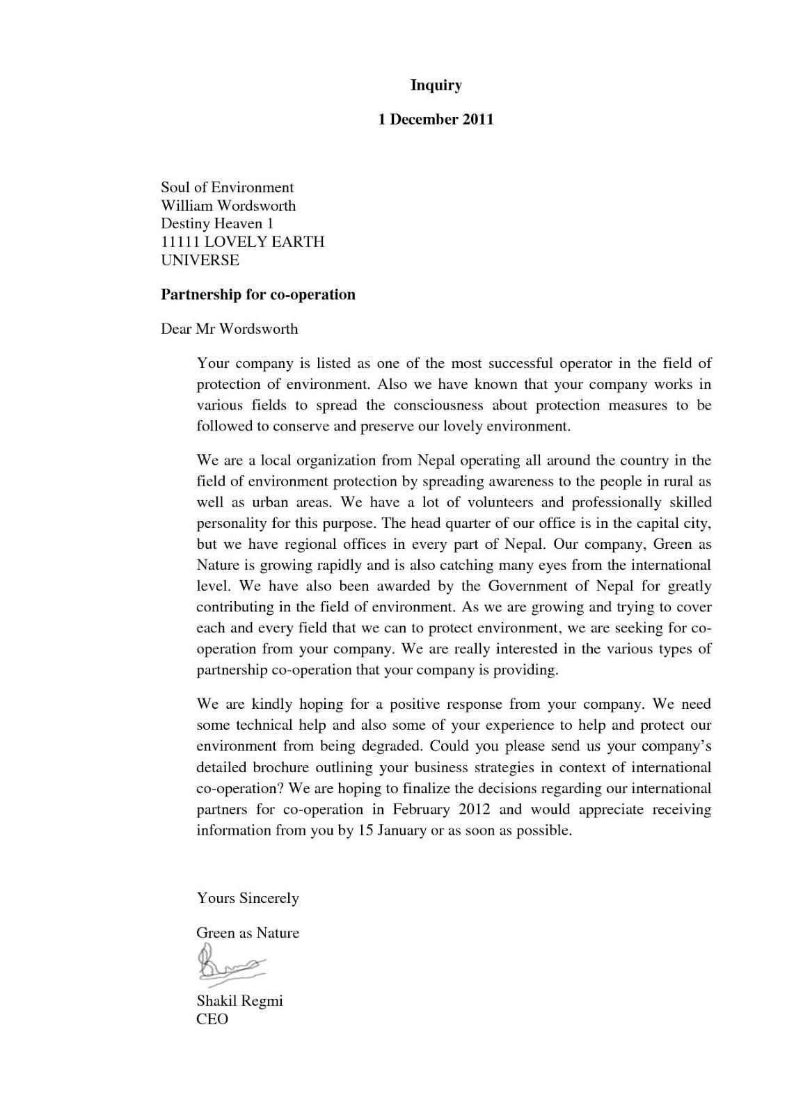 Blog Yodi Part Of Business Letter