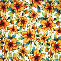 Goldenrod Teal Floral