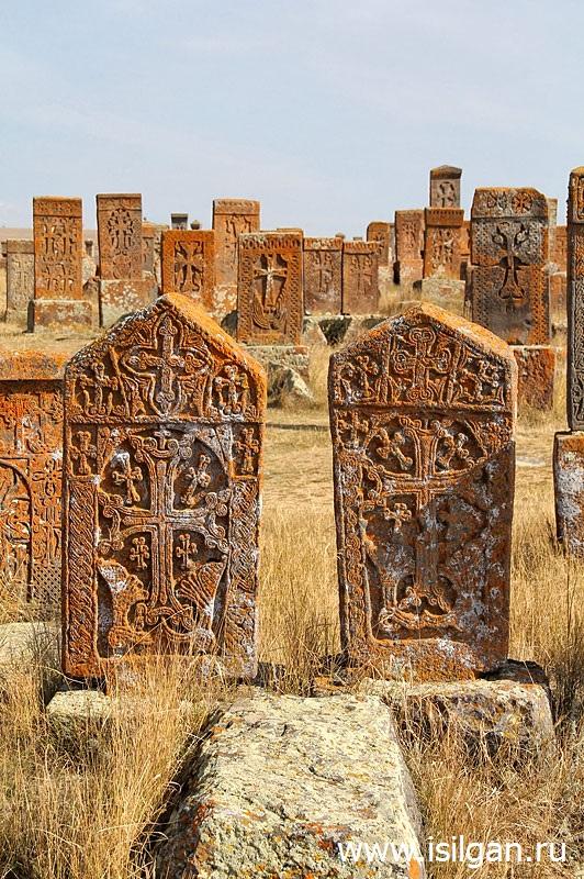 Кладбище хачкаров. Село Норатус. Армения