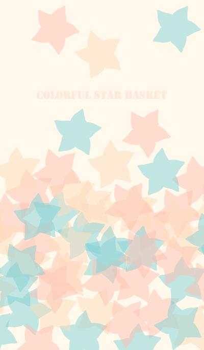 Colorful star basket