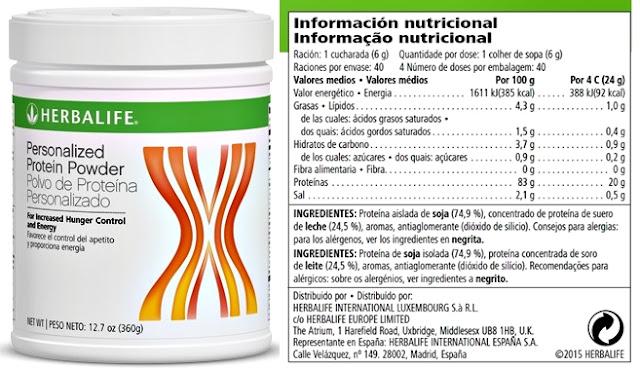 Herbalife protein Powder quemar grasa