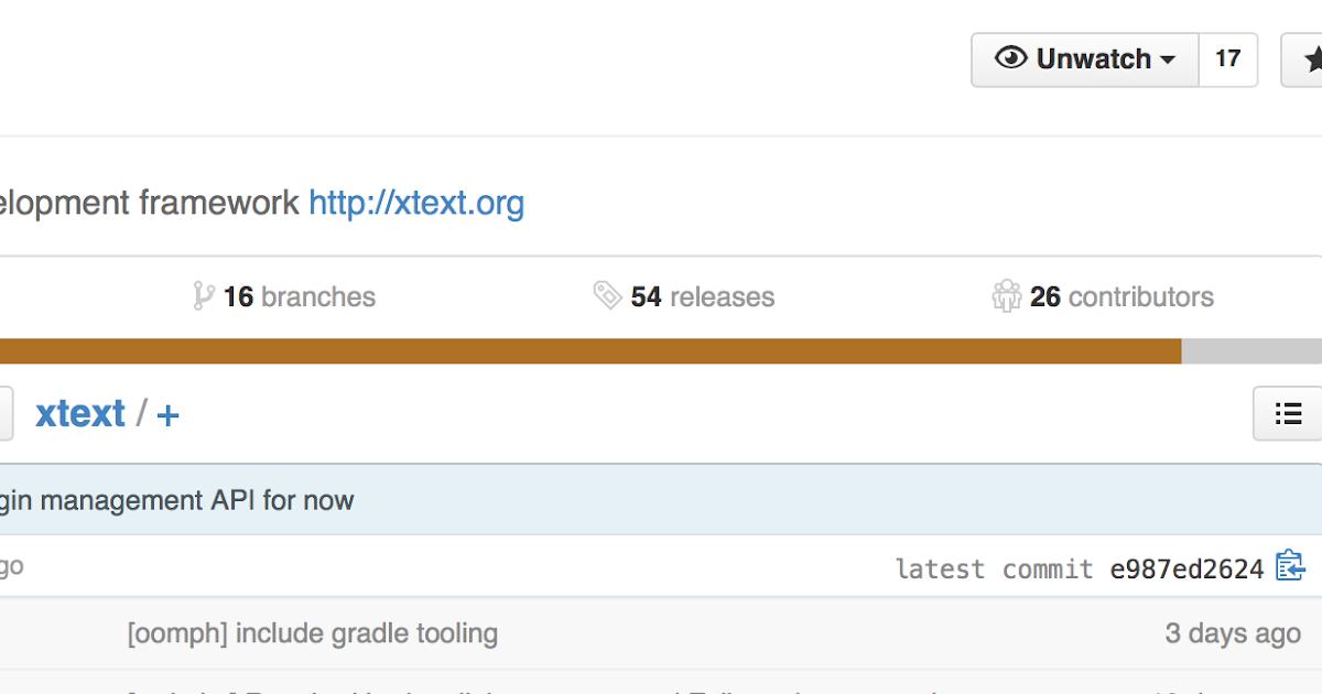 sven efftinge's blog: Xtext moved to Github