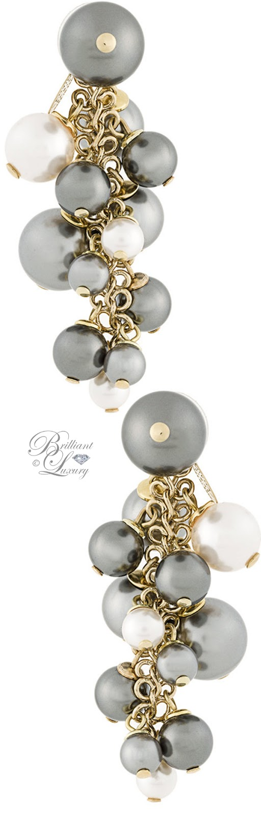 Brilliant Luxury ♦ Lanvin Pearl Embellished Drop Earrings