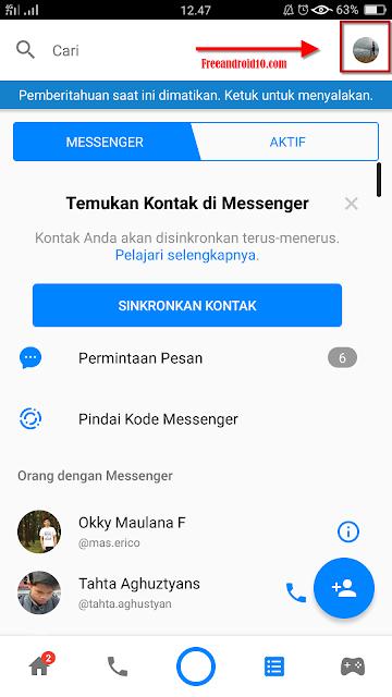 Cara Logout, Menambah, dan Hapus Akun Di Fb Messenger Android