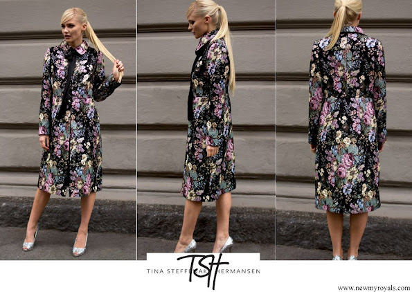 Crown Princess Mette-Marit wore TSH Black Flower Coat