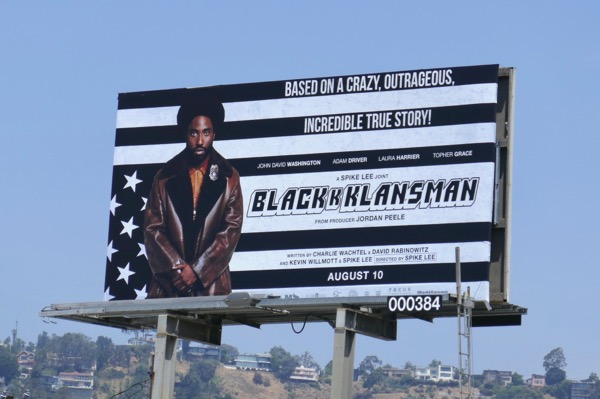 BlacKkKlansman movie billboard
