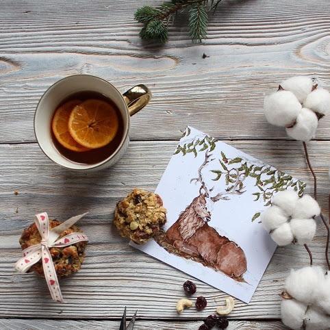 Bożonarodzeniowe ciasteczka z bakaliami