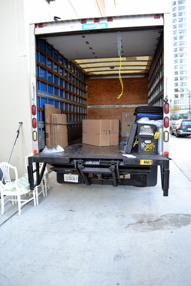 Finally - an almost empty moving truck!