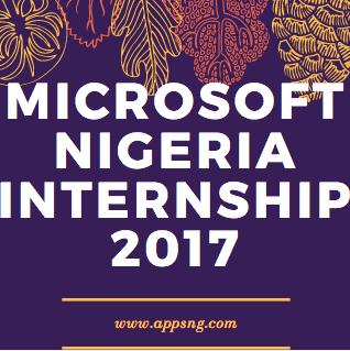 Microsoft Nigeria Internship 2017