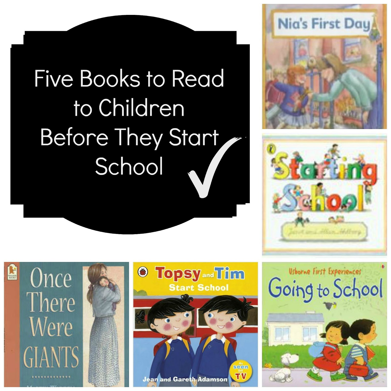 , Five Books to Read to Kids Starting School