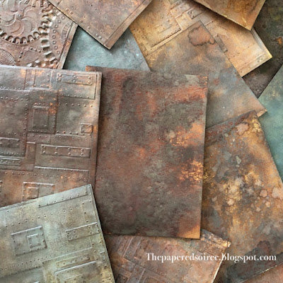 Rust Backgrounds with Distress Oxides