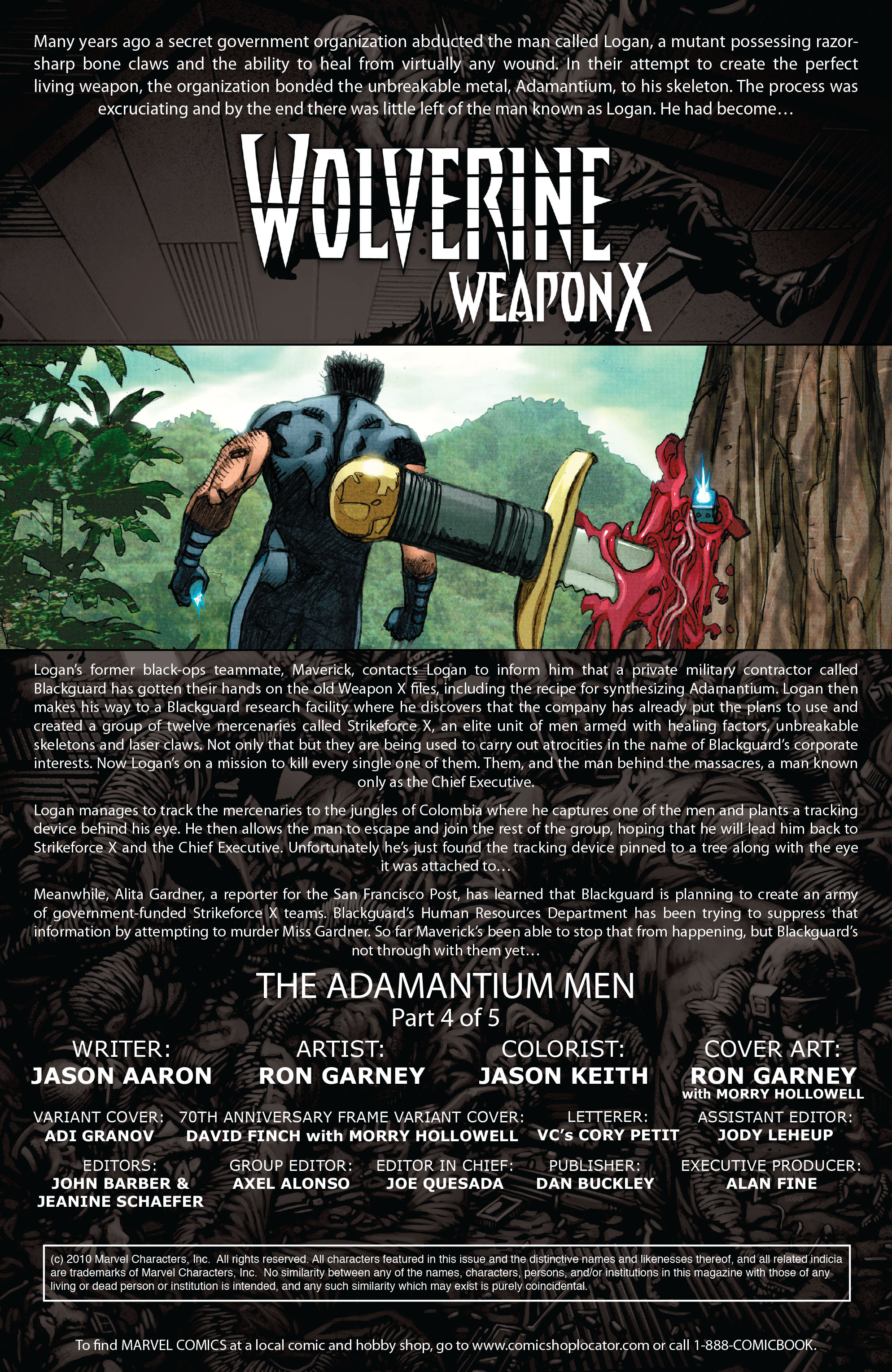 Read online Wolverine: Weapon X comic -  Issue #4 - 2