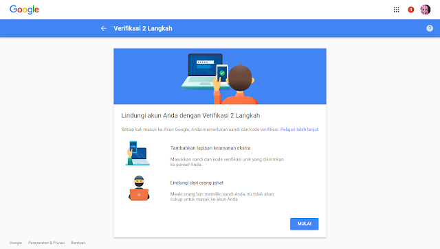 Memperkuat Keamanan Akun Google dengan Verifikasi 2 Langkah
