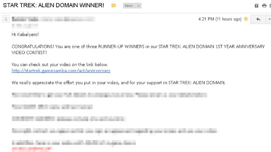 Star Trek Alien Domain Winner