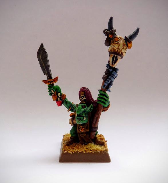 Goblin Shaman for Orcs & Goblins, Warhammer Fantasy Battle.