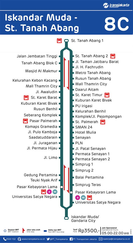 rute transjakarta iskandar muda stasiun tanah abang