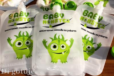 Baby Monster - wielorazowe saszetki na pokarm dla dzieci - recenzja