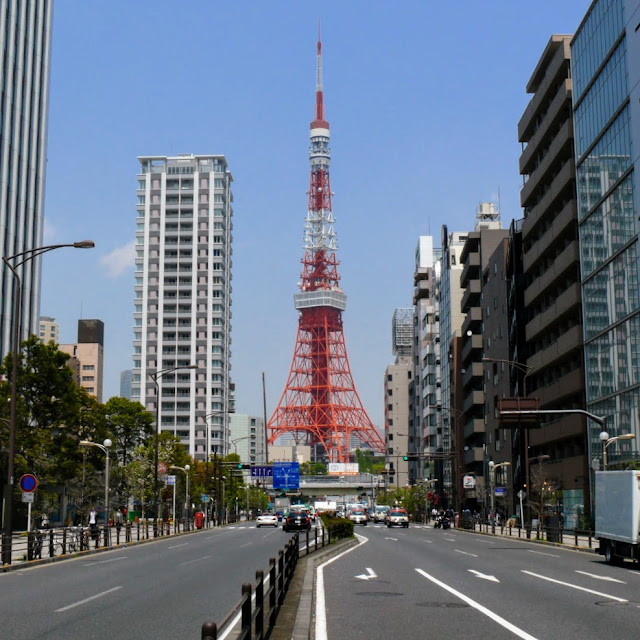 三田一丁目辺りからの東京タワー