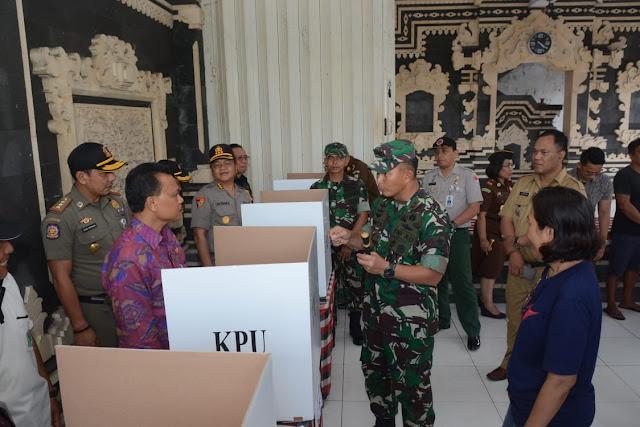 KPU dan Pangdam IX Udayana Tinjau Kesiapan TPS di Bali