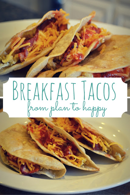 Breakfast tacos will be your new go to recipe for dinner, or breakfast for dinner, actually!