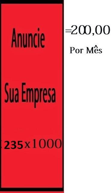 Banner 235 x 1000 = R$200,00 por mês