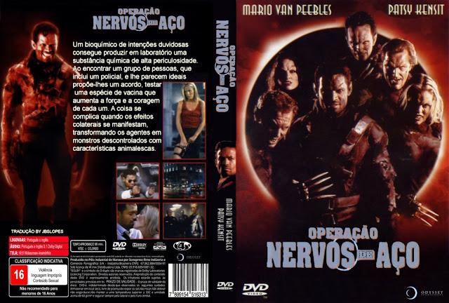 Capa DVD Operação Nervos De Aço