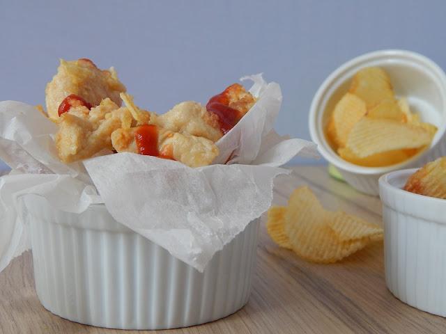 Straccetti di pollo con impanatura alle patatine contadine