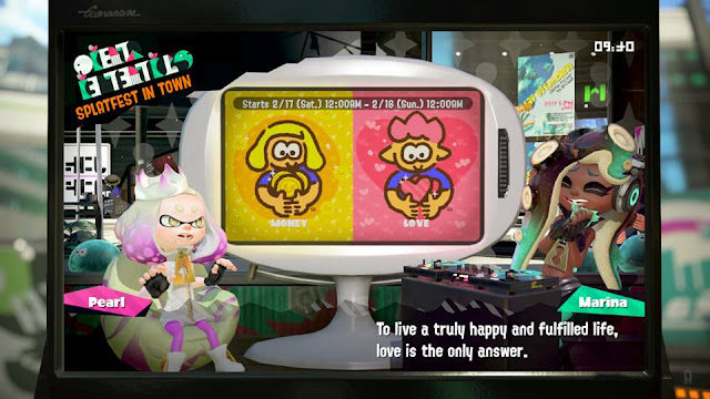 Splatoon 2 Splatfest Marina love is the only answer to live a truly happy and fulfilled life