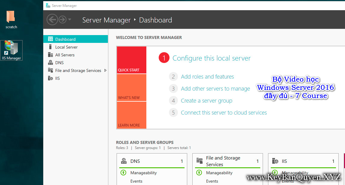 Bộ Video học Windows Server 2016 đầy đủ - 7 Course