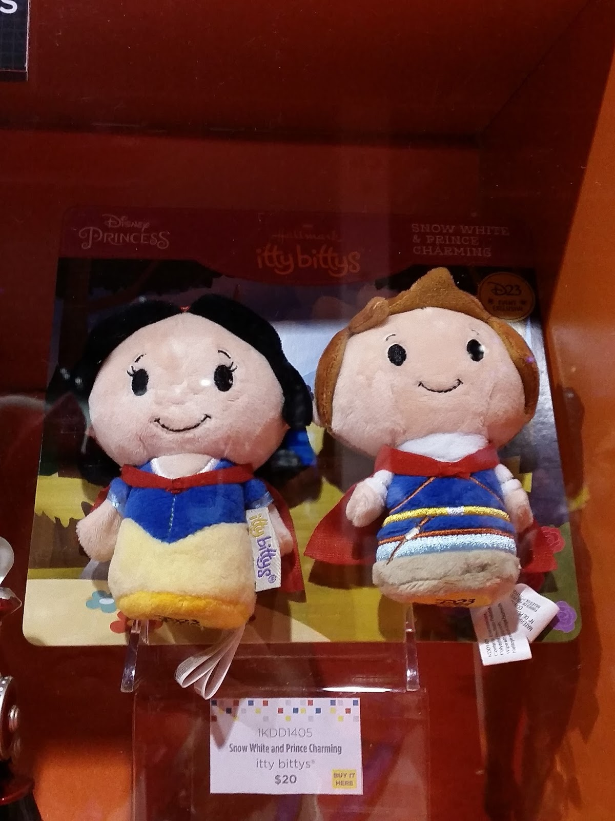 D23 Expo Gold Member Exclusive Hallmark Itty Bittys Snow White /& Prince Charming